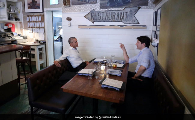 Barack Obama, Justin Trudeau Spotted Hanging Out. Internet Is Thrilled