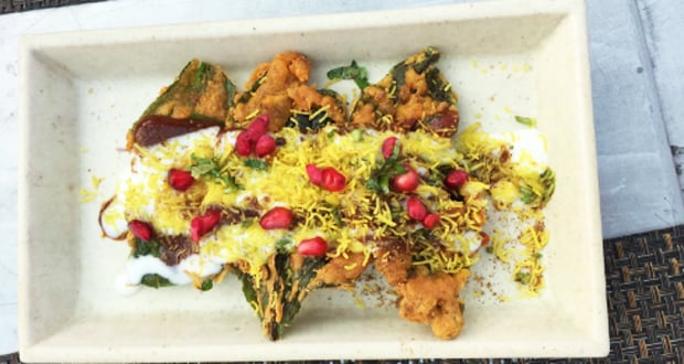 palak patta chaat street food