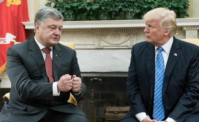 Ukraine's President Petro Poroshenko Scores Donald Trump White House Meeting