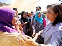 Philippines Vice President Leni Robredo Visits Refugees Fleeing Fighting