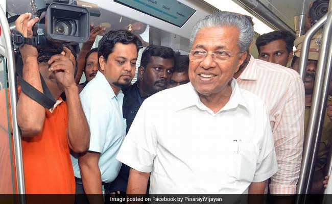 Kerala Chief Minister Pinarayi Vijayan Inspects Kochi Metro, Takes A Ride On Train