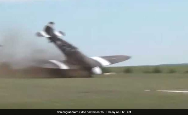 WWII Plane Crashes During Take-Off At Air Show, Metres From Spectators