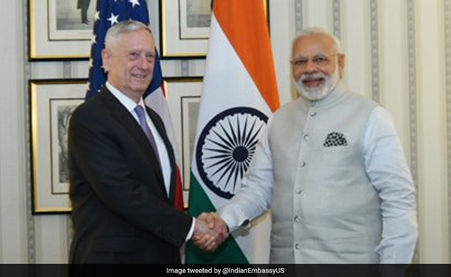 US Defence Secretary James Mattis Calls On Prime Minister Narendra Modi In Washington