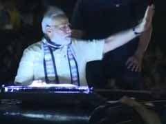 Prime Minister Narendra Modi Holds Roadshow In Gujarat's Rajkot
