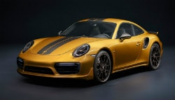 This Gold Porsche 911 Turbo S Exclusive Series Packs 598 bhp!