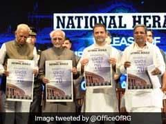 Rahul Gandhi In Bengaluru For Re-Launch Of National Herald