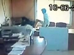 On Camera, Karnataka Government Employee Kicks Colleague For Coming Late