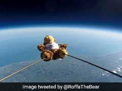 Space Odyssey: Teddy Bear Rises 100,000 Feet In The Sky Tied To A Balloon