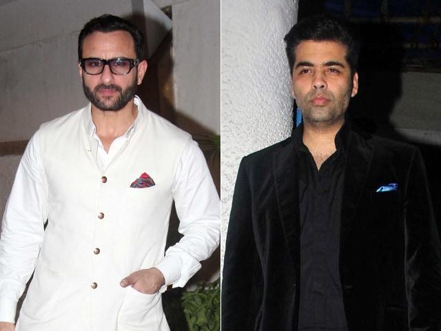 Saif Ali Khan And Karan Johar To Host The International Indian Film Academy Awards