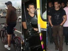 Salman Khan's <i>Tubelight Darshan</i>, On Foot, Cycle And Auto Rickshaw