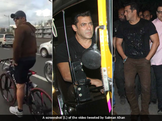 Salman Khan's Tubelight Darshan, On Foot, Cycle And Auto Rickshaw