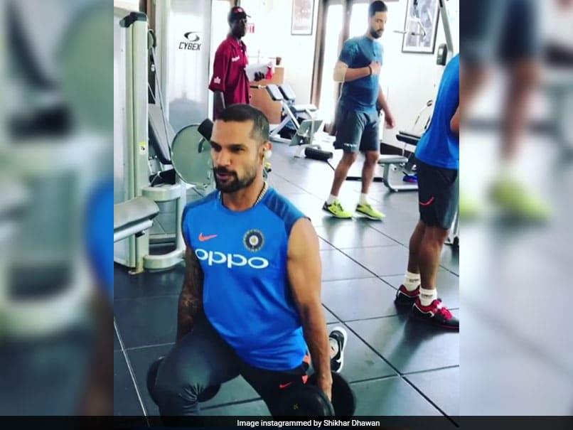 Shikhar Dhawan, Virat Kohli, Hardik Pandya Enjoy Fitness Session Ahead Of Third ODI Against West Indies