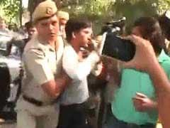 Anti-CPM Slogans At Sitaram Yechury's Media Conference In Delhi