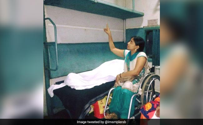 Public apathy forces para-athlete to sleep on train floor