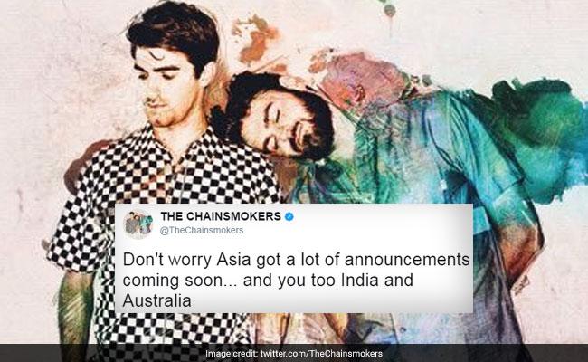 ट्विटर पर कोई गलती माफ नहीं: द चेनस्मोकर्स ने एशिया 'एंड इंडिया' पर किया ट्वीट, तो मिला पाठ...