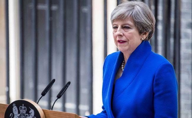 British Prime Minister Theresa May Apologises To Own Lawmakers For French Election 'Mess'