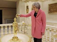 British PM Theresa May Visits Swaminarayan Temple In London Ahead Of Elections