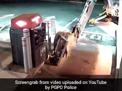 Video: Thief Uses Excavator To Break Into ATM. Gets Nothing