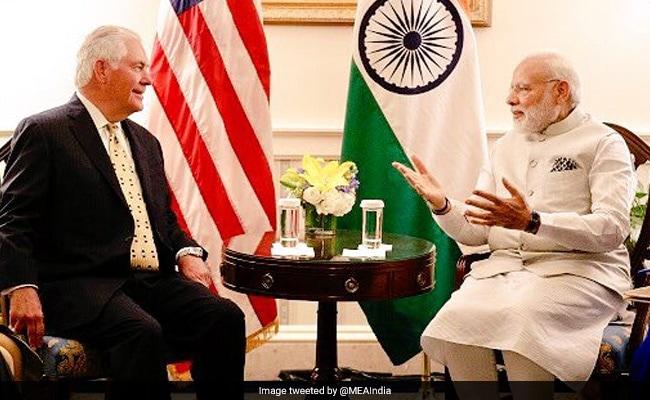 US Secretary Of State Rex Tillerson Calls On Prime Minister Narendra Modi