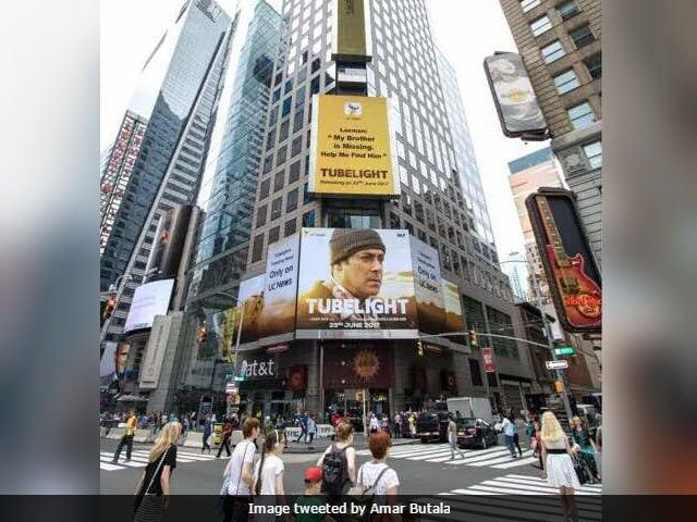 Salman Khan's Tubelight Lights Up New York City's Times Square