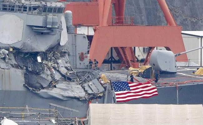 US Warship Stayed On Deadly Collision Course Despite Warning: Report