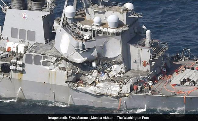 अमेरिकी पोत दुर्घटनाग्रस्त : कमांडर समेत दोषी नौसैनिकों को दी जाएगी सजा