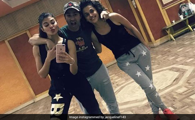 varun jacqueline and taapsee pannu 650