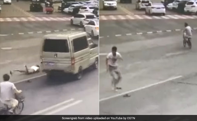 Video: Man Jumps Out Of Moving Car Seconds Before It Catches Fire