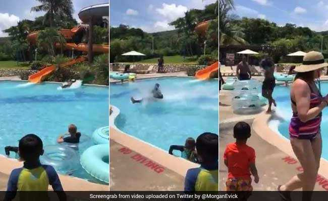 Internet Cannot Get Enough Of This Perfect Water Slide Landing