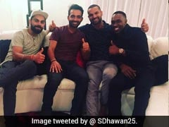 India vs West Indies: Virat Kohli, Ajinkya Rahane, Shikhar Dhawan Relax At Dwayne Bravo's House