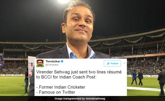 Virender Sehwag Sends Two-Line Job Application To BCCI, Twitter Cracks Up