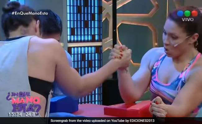 Watch: Woman's Bone Snaps During Arm Wrestling Match On Game Show