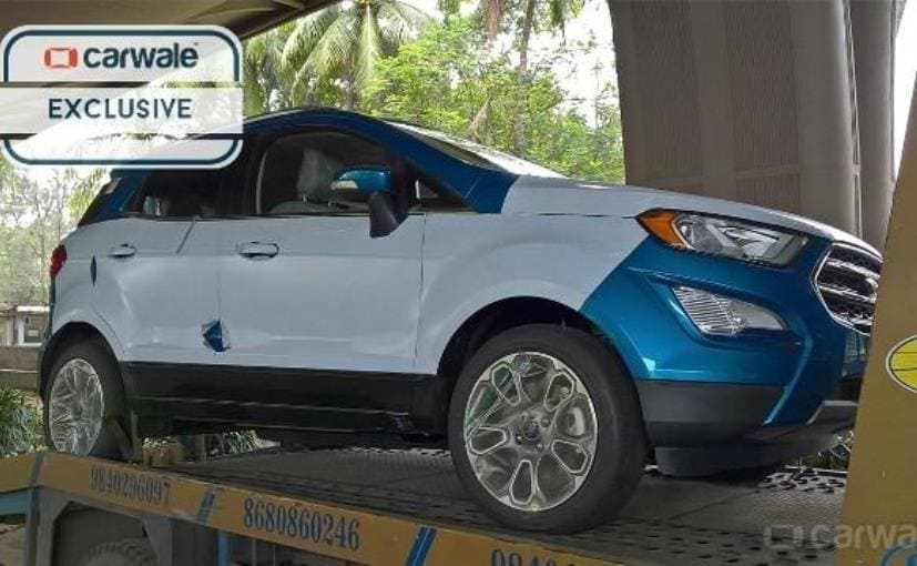 2017 ford ecosport facelift spotted again ahead of festive. Black Bedroom Furniture Sets. Home Design Ideas