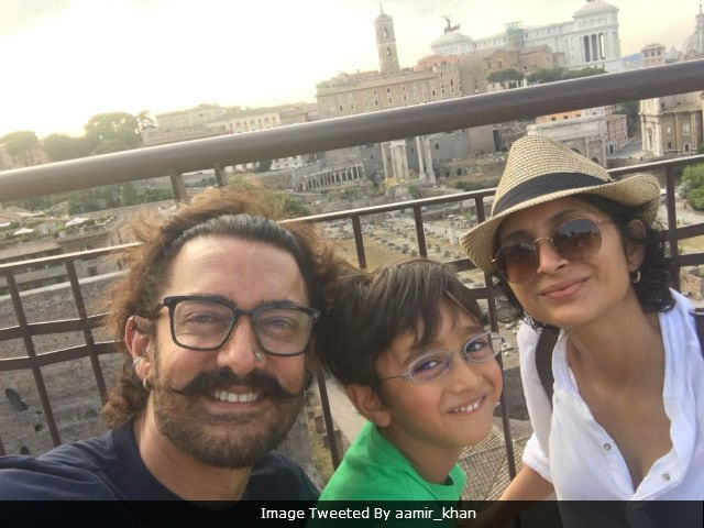 It's Aamir Khan's 'Last Day In Rome' With Wife Kiran Rao And Son Azad. See Pics