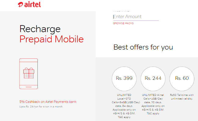 Airtel Does A Jio, Offers 84GB Data For 84 Days In Special Rs 399 Pack