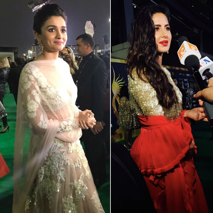 18th IIFA Awards 2017 Alia Bhatt and Katrina Kaif at IIFA Rocks green carpet