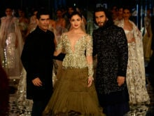 Alia Bhatt And Ranveer Singh Close Manish Malhotra's Show. See Pics
