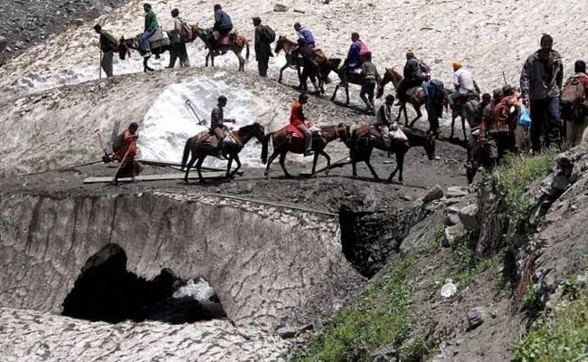 Amarnath Yatra resumed on Sunday after a day-long suspension