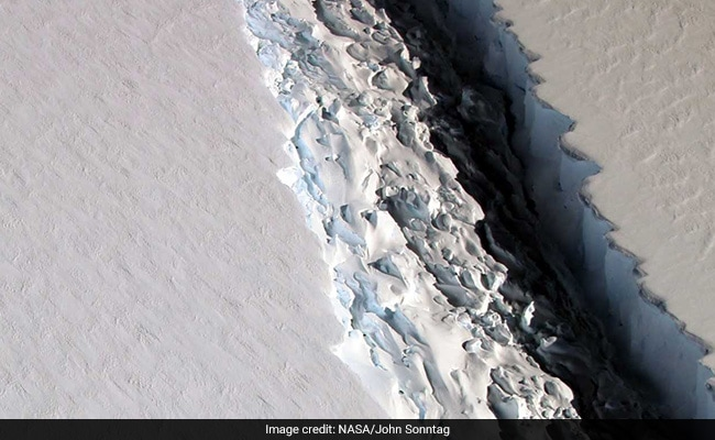 NASA Unveils Stunning Images Of Massive Antarctic Iceberg