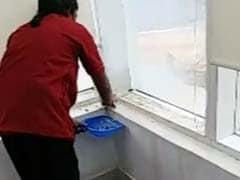 Water Leaks In Ministers' Chambers In Andhra Pradesh Secretariat