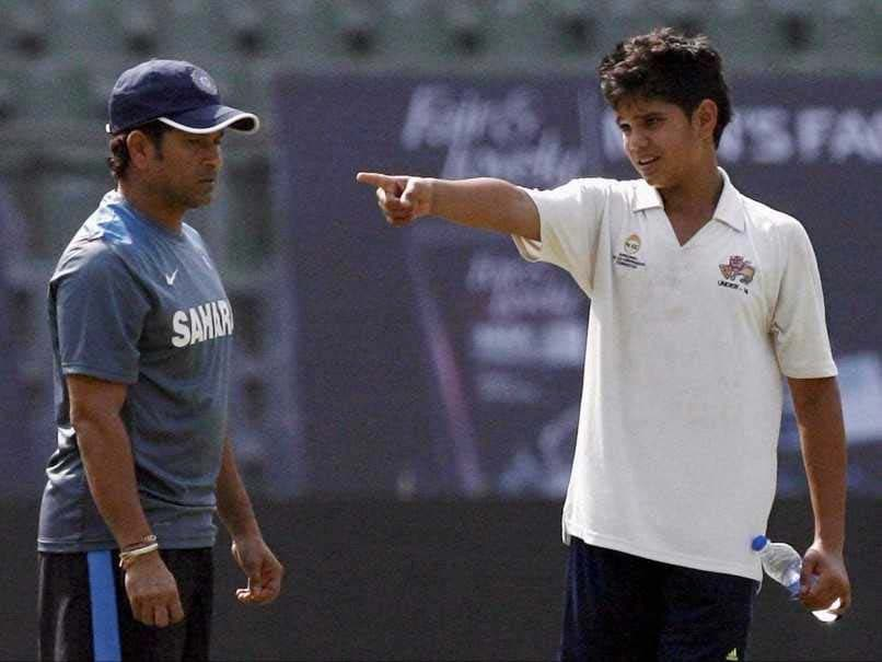 Arjun Tendulkar bowls to India women during net sessions
