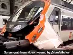 Commuter Train Crash In Barcelona Station Injures 39