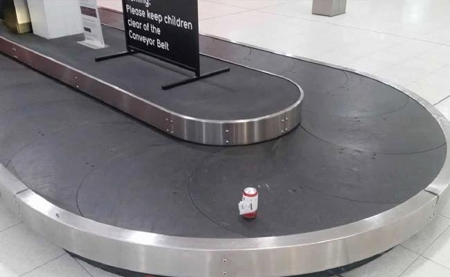 Flyer Checks-In Only A Can Of Beer, Gets It In 'Perfect Condition'