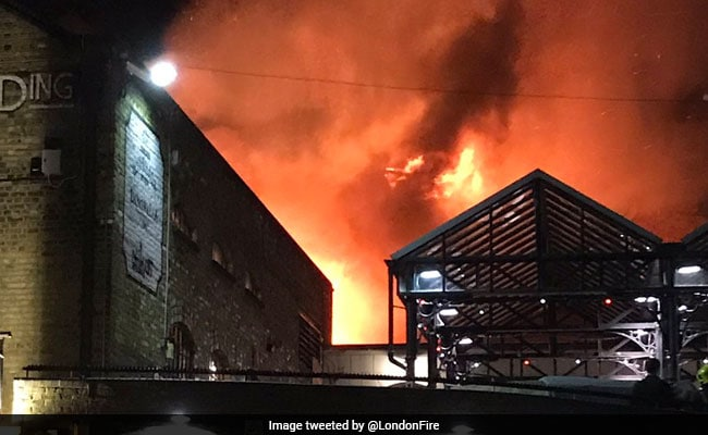 Massive Fire In London Market, Firefighters Say Now Under Control