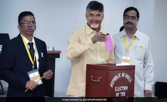 Presidential Election 2017: Andhra Pradesh Chief Minister Casts His Vote