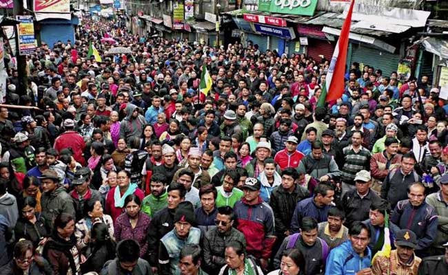 Gorkhaland Supporters Allegedly Torch Government Office In Darjeeling
