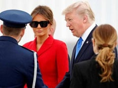 US President Donald Trump Arrives In France On Two-Day Visit