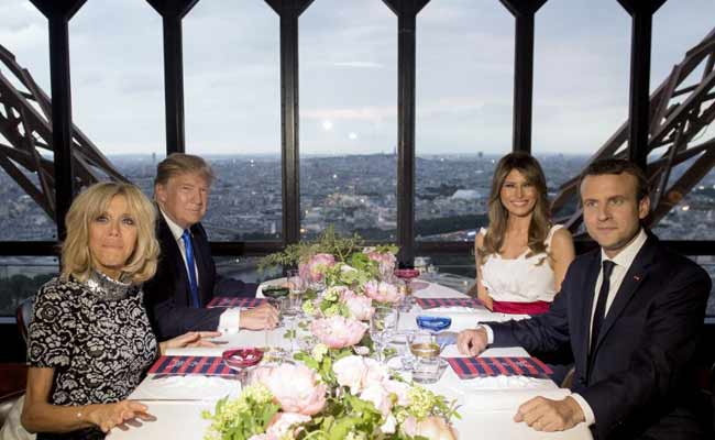 Fast-Food Fan Donald Trump Gets Taste Of The High Life At Eiffel Tower