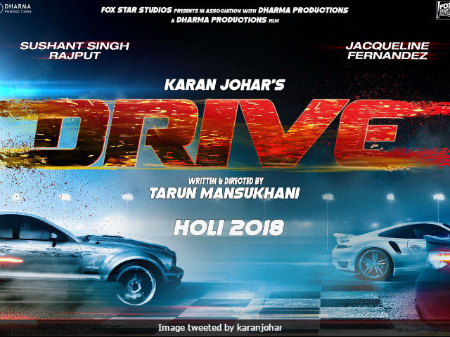 Drive First Poster: Sushant Singh Rajput And Jacqueline Fernandez Are All Set To Thrill You On March 2