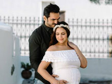 Glimpses Of Esha Deol's Fab Maternity Photoshoot In Greece